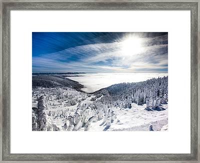 Whitefish Inversion Framed Print