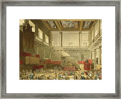 Whitehall, From Ackermanns Microcosm Framed Print by T. & Pugin, A.C. Rowlandson