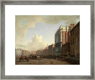Whitehall, Looking Northeast London Signed Framed Print by Litz Collection