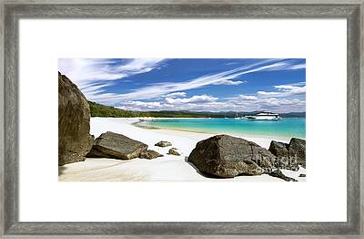 Whitehaven Beach Framed Print by Shannon Rogers