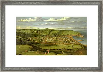 Whitehaven, Cumbria, Showing Flatt Hall Prospect View Framed Print by Litz Collection
