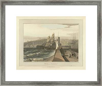 Whitehaven Port In Cumberland Framed Print by British Library