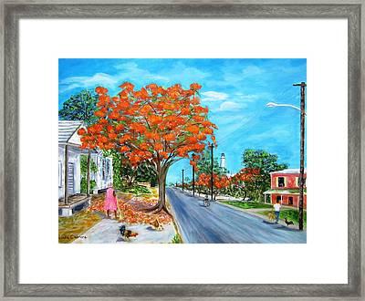 Whitehead Street Framed Print