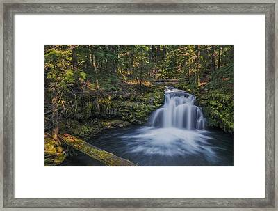 Whitehorse Falls Framed Print by Loree Johnson