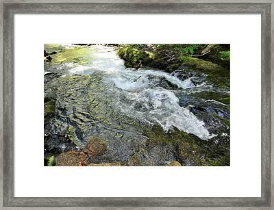 Whitehorse Falls Series 2 Framed Print by Teri Schuster