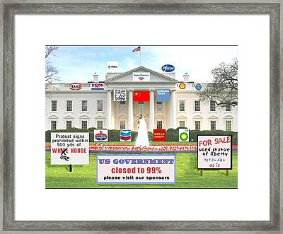 Whitehouse Sponsors  Framed Print by Robert Stagemyer