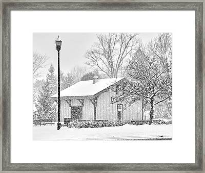 Whitehouse Train Station Framed Print by Jack Schultz