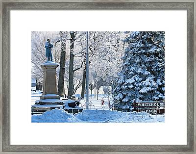 Whitehouse Village Park  7360 Framed Print by Jack Schultz
