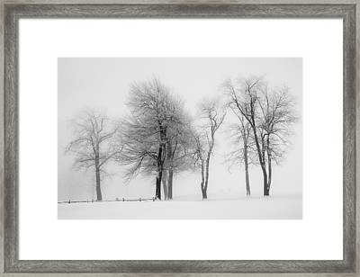 Whiteout Framed Print by Emmanuel Panagiotakis