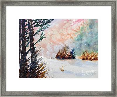 Whiteout Framed Print
