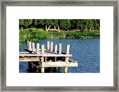 Whiterock Lake Pier Framed Print