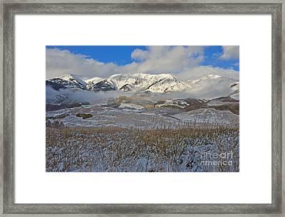 Whiterock Winter Mist Framed Print