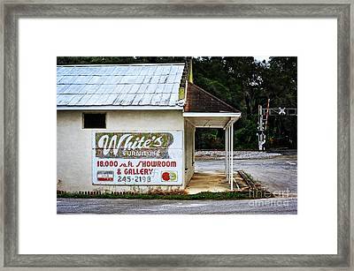 White's Furniture Framed Print by Mary Machare