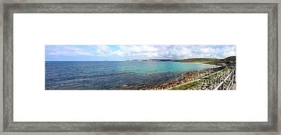 Whitesand Bay And Cape Cornwall Framed Print by Terri Waters
