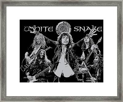 Whitesnake No.01 Framed Print by Caio Caldas