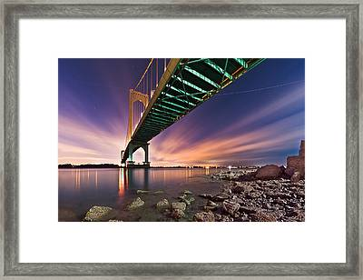Whitestone Bridge Framed Print by Mihai Andritoiu
