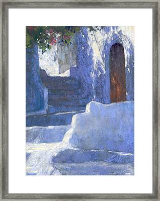 Whitewashed Steps  Framed Print by Jackie Simmonds