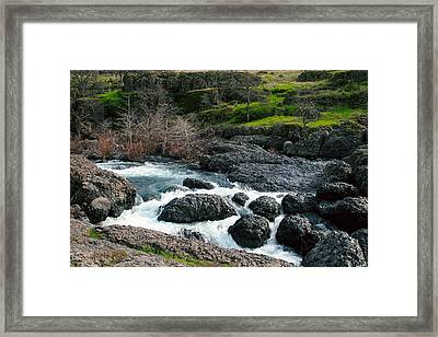Whitewater At Bear Hole Framed Print