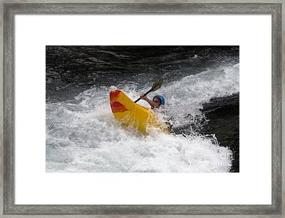 Whitewater Kayaking, The Yukon Framed Print