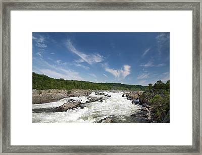 Whitewater On The Potomac River Framed Print