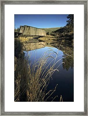 Whitman County Bridge Framed Print