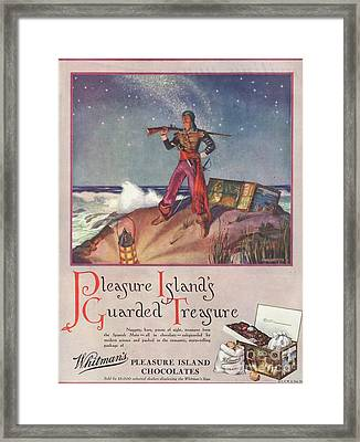 WhitmanÕs 1940s Uk Pirates Chocolate Framed Print by The Advertising Archives