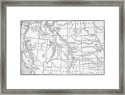 Whitman's Route Framed Print
