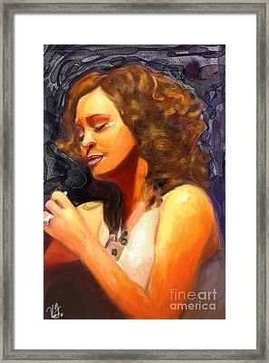Whitney Gone Too Soon Framed Print