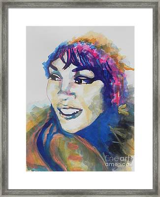Whitney Houston Framed Print by Chrisann Ellis