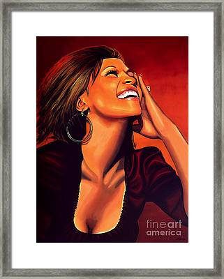 Whitney Houston Framed Print by Paul Meijering