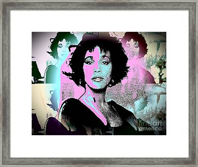 Whitney Houston Sing For Me Again Framed Print