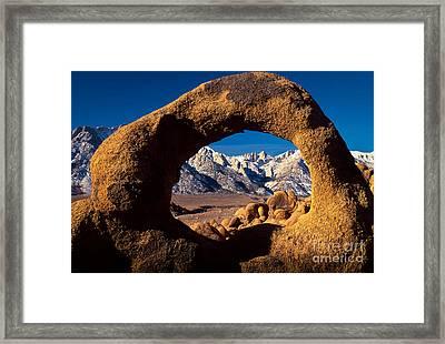 Whitney Portal Framed Print by Inge Johnsson