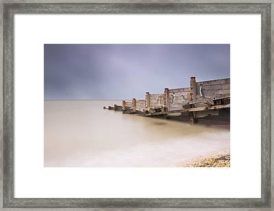 Whitstable Beach - Penguins Framed Print