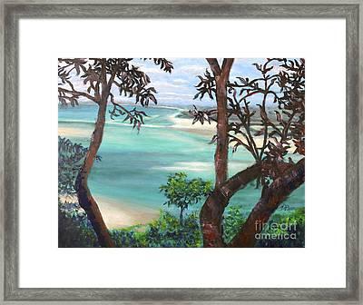 Whitsunday Blues Framed Print