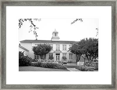 Whittier College Hoover Hall Framed Print by University Icons