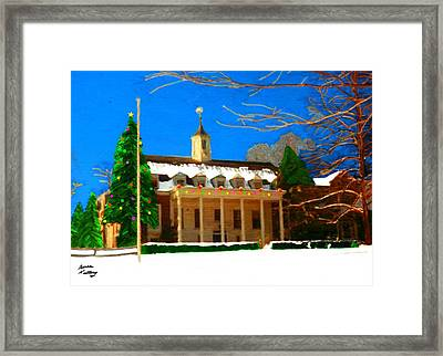 Whittle Hall At Christmas Framed Print by Bruce Nutting