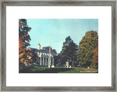 Whittle Hall Framed Print by Bruce Nutting