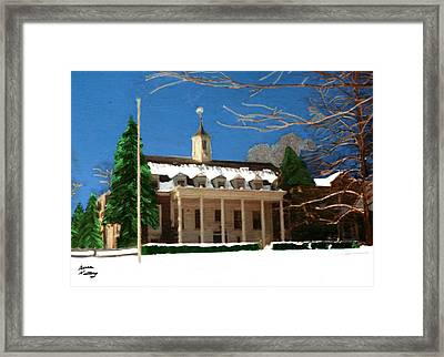 Whittle Hall In The Winter Framed Print by Bruce Nutting