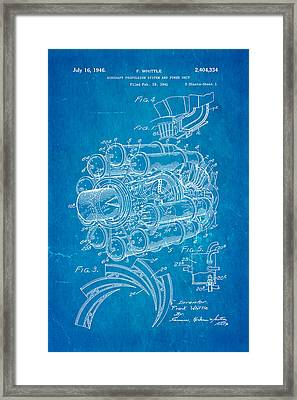 Whittle Jet Engine Patent Art 1946 Blueprint Framed Print
