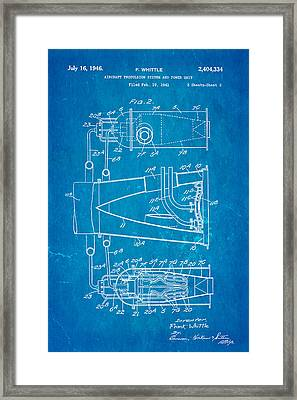 Whittle Jet Engine Patent Art 2 1946 Blueprint  Framed Print by Ian Monk