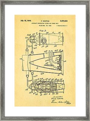 Whittle Jet Engine Patent Art 2 1946 Framed Print by Ian Monk
