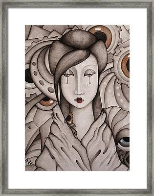 Who Am I Framed Print by Simona  Mereu