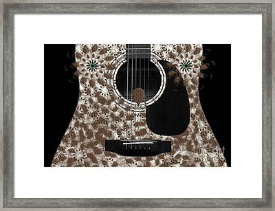 Who Are You - Owl Abstract Guitar Framed Print