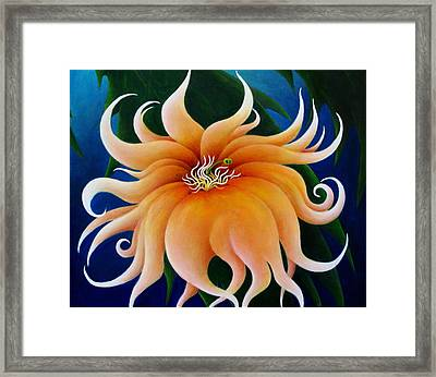 Who But The Hand Of God Framed Print by Richard Dennis
