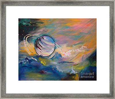 Who But You Could Leave A Trail Of Galaxies Framed Print by PainterArtist FIN