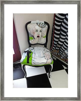 Who Chairs Framed Print by Darlene Graeser