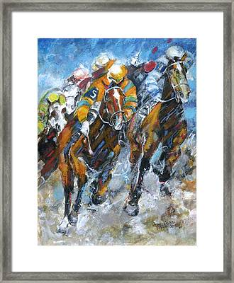 Who Is Really Winning Framed Print by Mary Armstrong