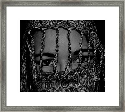 Who Is She Framed Print by Michelle McPhillips