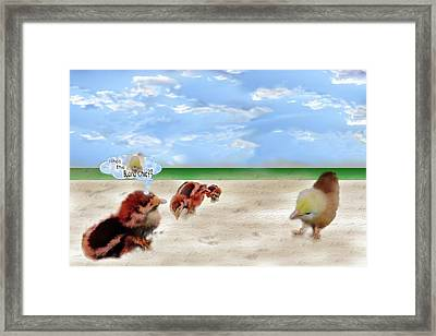 Who Is The Blond Chic Framed Print