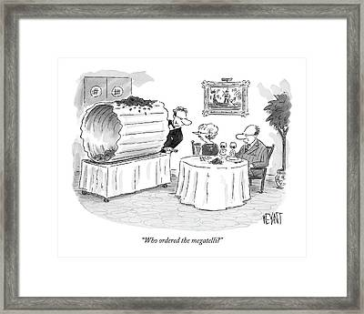 Who Ordered The Megatelli? Framed Print by Christopher Weyant